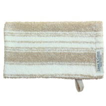 Striped Bath Mitt