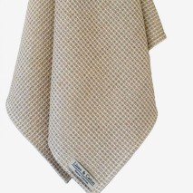 Linen Waffle Towel, Natural & White