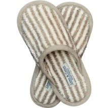 Striped Linen Slippers
