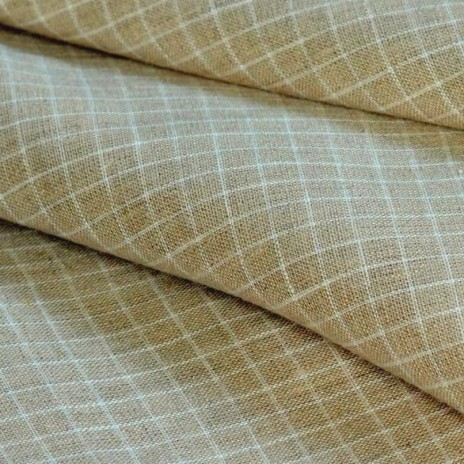 Checked Linen Fabric