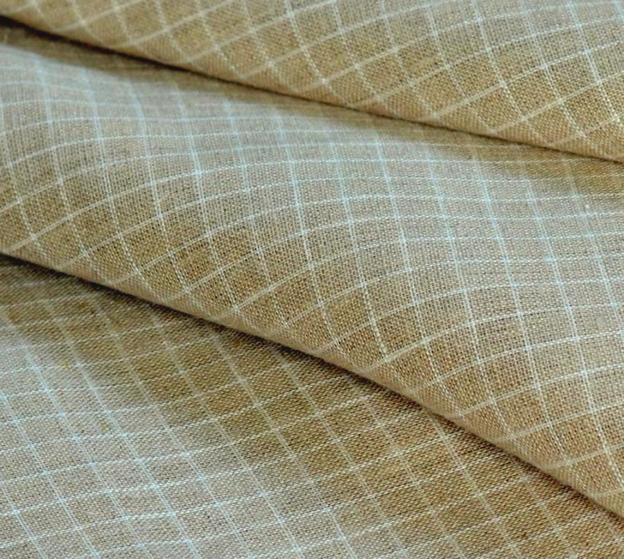 The linen fibre is derived from the middle of the flax plant, so it will be naturally thicker than the cotton bolls from the cotton plant. An average linen fabric used for sheeting has a thread count of between 80 and , which would be considered low for a cotton sheet.