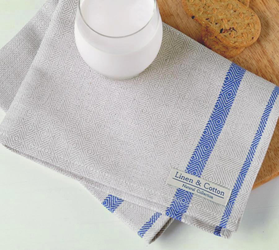 linen tea towel natural blue linen cotton. Black Bedroom Furniture Sets. Home Design Ideas
