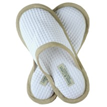 White Pure Cotton Slippers, Unisex