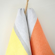 Tea Towel- Orange & Yellow