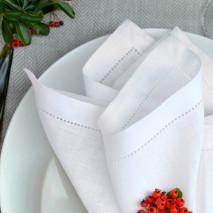 Pure White Linen Napkins, 100% Linen