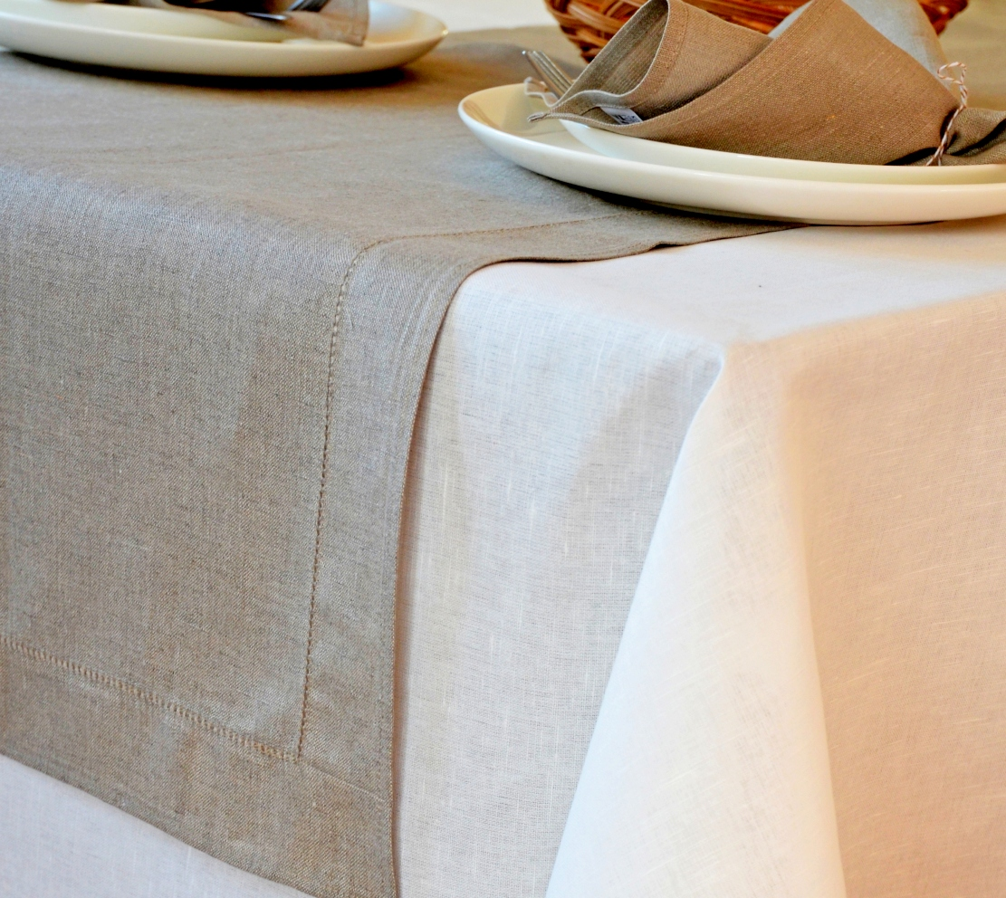 Off white linen tablecloth linen cotton for White cotton table cloth
