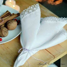 LUXURY CROCHET EDGED PURE WHITE NAPKIN