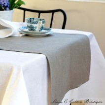 Linen Table Runner, 100% Linen