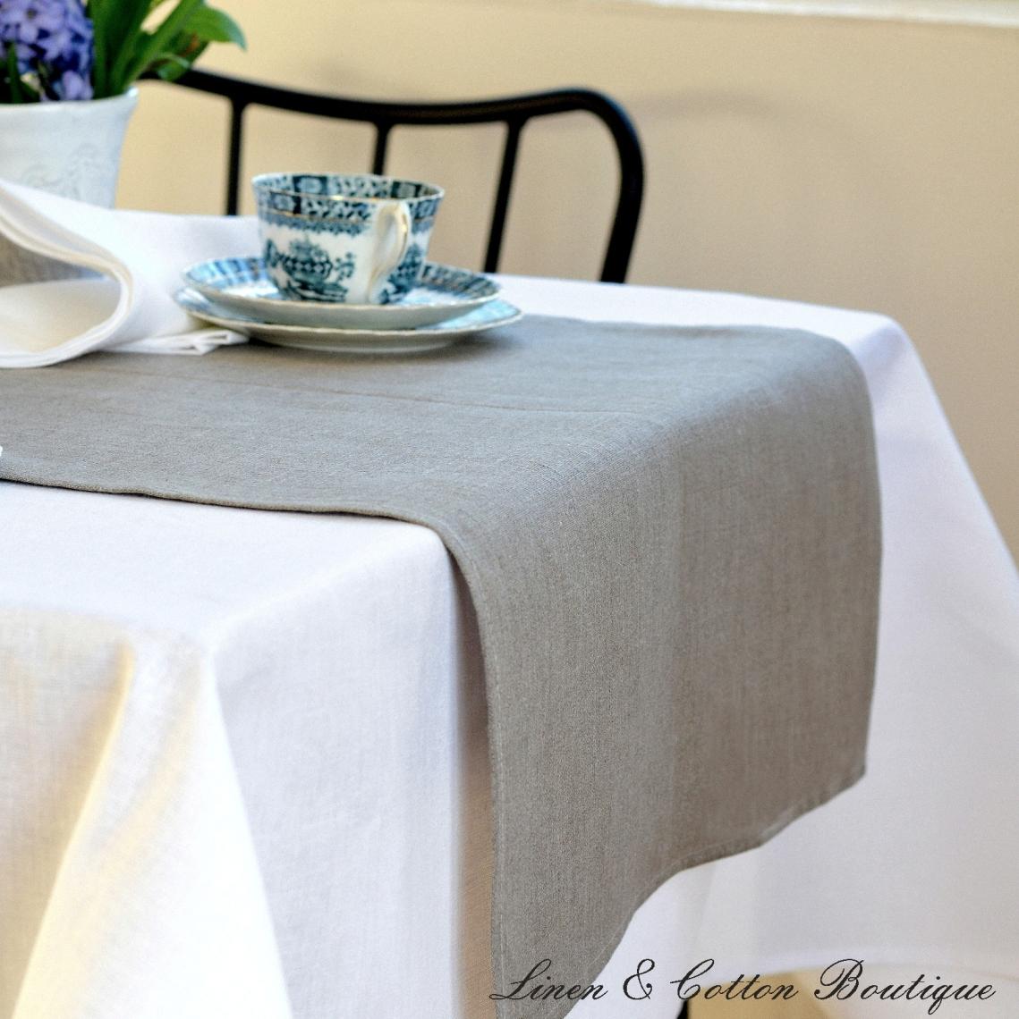 Natural Linen Table Runner Linen Amp Cotton