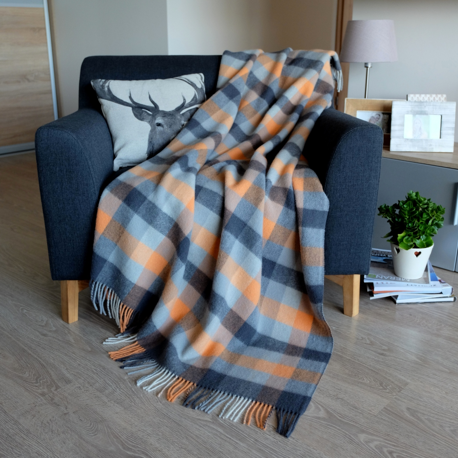 Luxury Soft Sofa Bed Throw Blanket SPRING – 100% NEW ZEALAND